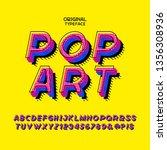 fashionable alphabet inspired... | Shutterstock .eps vector #1356308936