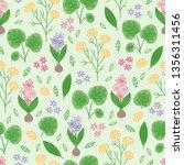 gardening seamless pattern with ... | Shutterstock .eps vector #1356311456