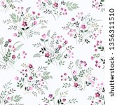seamless floral pattern with... | Shutterstock .eps vector #1356311510