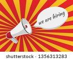we are hiring vacancy open... | Shutterstock .eps vector #1356313283