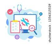 computer repair concept. vector ... | Shutterstock .eps vector #1356315539