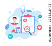 medical record concept. vector... | Shutterstock .eps vector #1356318473