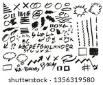 set of arrows and marker... | Shutterstock .eps vector #1356319580
