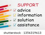 support and colored pencils... | Shutterstock . vector #1356319613