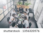 young business people meeting... | Shutterstock . vector #1356320576