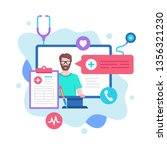 online doctor concept. vector... | Shutterstock .eps vector #1356321230
