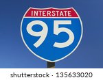 close up of interstate highway... | Shutterstock . vector #135633020