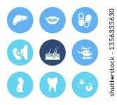 healthcare icon set and pill...