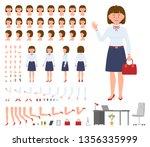 office manager woman cartoon... | Shutterstock .eps vector #1356335999