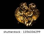 Gold Angels Black Background