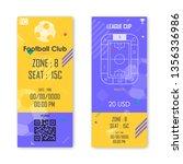 football  soccer ticket card... | Shutterstock .eps vector #1356336986