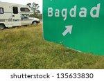 Bagdad Florida Freeway Sign An...