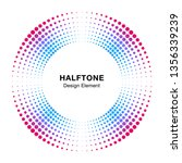 halftone colorful circle frame...   Shutterstock .eps vector #1356339239