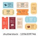 set of retro cinema tickets... | Shutterstock .eps vector #1356339746