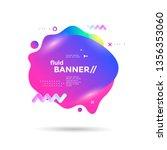 creative design fluid banner... | Shutterstock .eps vector #1356353060