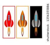 rocket three pieces  color red...