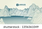 abstract wireframe background.... | Shutterstock .eps vector #1356361049