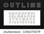 vector outline modern font.... | Shutterstock .eps vector #1356370379