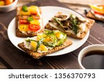 breakfast table with tasty... | Shutterstock . vector #1356370793
