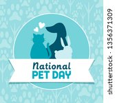 national pet day holiday social ... | Shutterstock .eps vector #1356371309