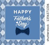 happy father's day card with... | Shutterstock .eps vector #1356371336