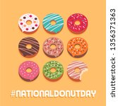 national donut day social media ... | Shutterstock .eps vector #1356371363