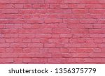 seamless brick wall texture for ... | Shutterstock . vector #1356375779