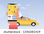 online taxi service application.... | Shutterstock .eps vector #1356381419