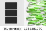news room. white wall. tv...   Shutterstock . vector #1356381770