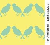 young blue tit bird silhouette... | Shutterstock . vector #1356383273
