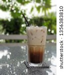 iced caramel macchiato   | Shutterstock . vector #1356383810