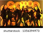 dancing people silhouettes....   Shutterstock .eps vector #1356394973