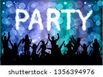 dancing people silhouettes....   Shutterstock .eps vector #1356394976