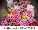 the famous amsterdam flower... | Shutterstock . vector #1356396863