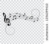 music notes  symbols  vector... | Shutterstock .eps vector #1356399410