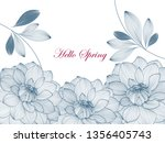 abstract  hand drawn floral... | Shutterstock .eps vector #1356405743