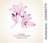beautiful floral wedding... | Shutterstock .eps vector #1356405779