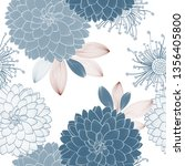 seamless pattern with flowers... | Shutterstock .eps vector #1356405800