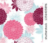 seamless abstract floral... | Shutterstock .eps vector #1356405896