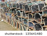 Lobster Pots Stacked On A...