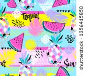 fashion tropics funny... | Shutterstock .eps vector #1356415850