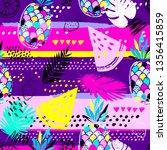 fashion tropics funny... | Shutterstock .eps vector #1356415859