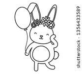 cute little rabbit easter...   Shutterstock .eps vector #1356433589