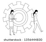 coworkers teamwork cartoon in... | Shutterstock .eps vector #1356444830