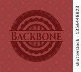 backbone red emblem | Shutterstock .eps vector #1356448823