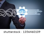 teamwork solutions concepts on... | Shutterstock . vector #1356460109