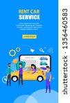 rent car service company. flat... | Shutterstock .eps vector #1356460583