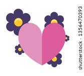 love romantic heart flowers | Shutterstock .eps vector #1356470393