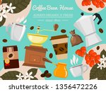 coffee bean house banner vector ... | Shutterstock .eps vector #1356472226