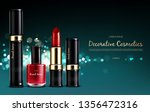 vector realistic cosmetic promo ... | Shutterstock .eps vector #1356472316